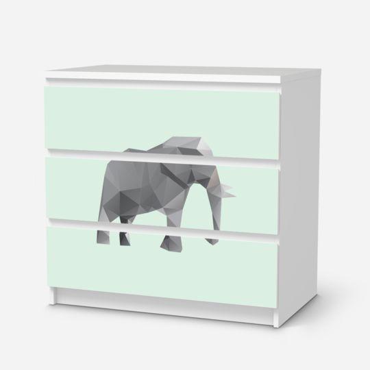 Origami Elephant für deine Malm Kommode