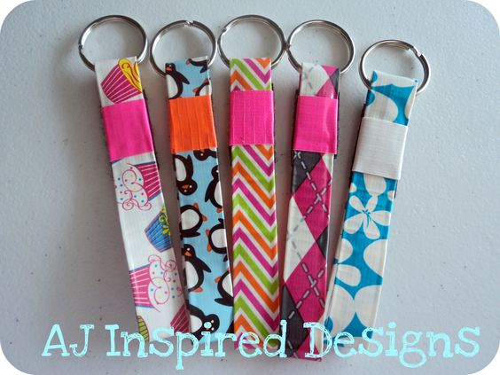 'New Prints' Duck Tape Keychains. These are now available in my etsy shop. www.etsy.com/shop/AJInspiredDesigns   'Like' me on facebook to receive updates on new products! www.facebook.com/AJInspiredDesigns  $2.50