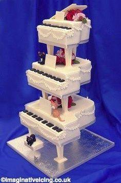 Piano #wedding cake! Liberace or Elton?