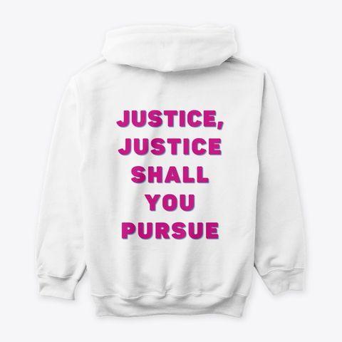 Tzedek Tzedek Tirdof Pursue Justice Hoodie By Joanna Maria S Judaica Modernjudaica Online Jewish Jewish Desig Social Justice Gifts Justice Jewish Design