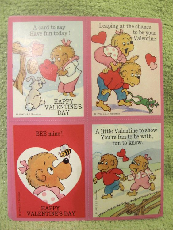 Lovely notes from everyone's favorite childrens' book series, The Berenstain Bears. | 28 Valentine's Day Cards You Haven't Seen Since The '90s