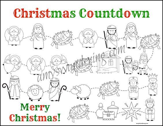 FREE Printable Nativity Story Christmas Countdown