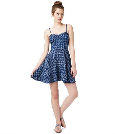 Sleeveless Geo Print Dress