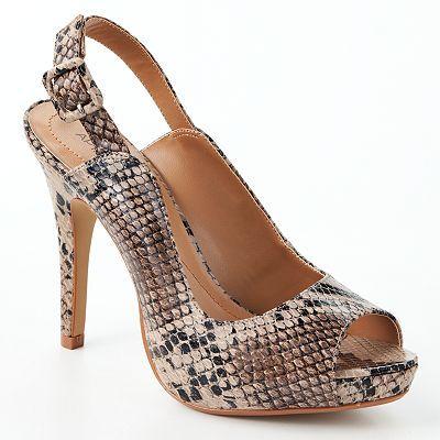 @Kohls - Apt. 9® Peep-Toe Slingback High Heels sale $32.99 original - Kohls - Apt. 9® Peep-Toe Slingback High Heels Sale $32.99 Original