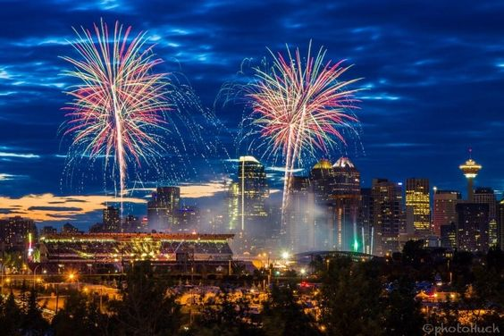 Calgary Stampede Fireworks My Home Amp Native Land