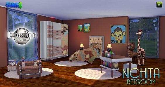 Sims 4 CC's - The Best: Nichita Kids Bedroom Set by JomSims
