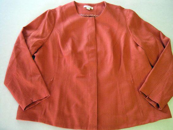 Womens Jacket 20/22 Coldwater Creek Orange Career CLEARANCE SALE NEW #ColdwaterCreek #MetropolitanShapedJacket