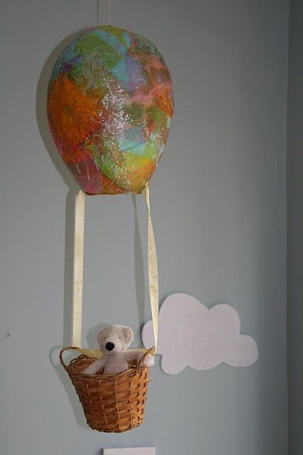 balloon craft ideas paper mache air balloon for storytelling 1088