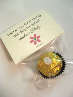 A Sweet Thank You Favor :  wedding diy favors: