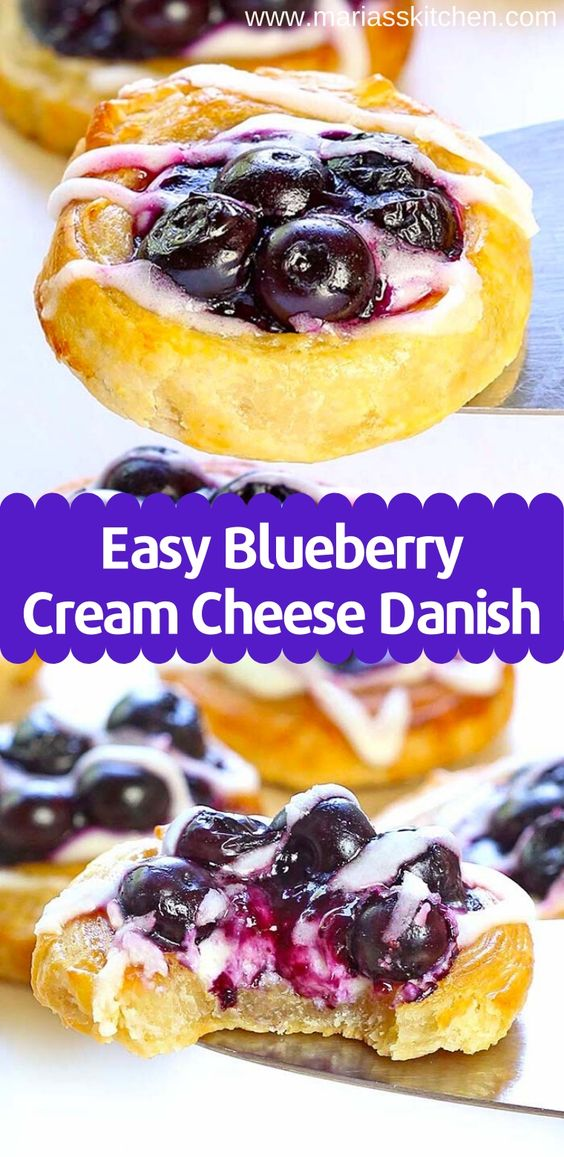 Quick and Delicious Blueberry Cream Cheese Danish