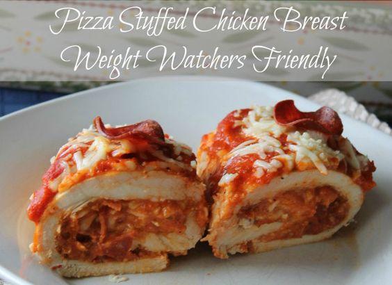 Pizza Stuffed Chicken Breasts