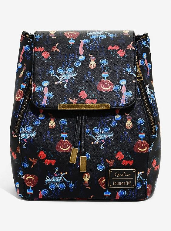 Loungefly Coraline Convertible Mini Backpack Boxlunch Exclusive Coraline Mini Backpack Cosmetic Bag Set