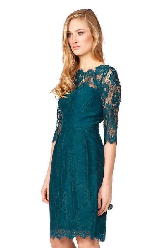 A bit of lace the Duchess would be proud of! Hire the Milly Celia dress from @Wish Want Wear here: http://www.wishwantwear.com/dress-hire/milly/418-green-celia-dress.html#