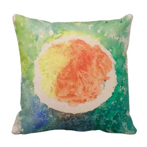 Water colour print pillow