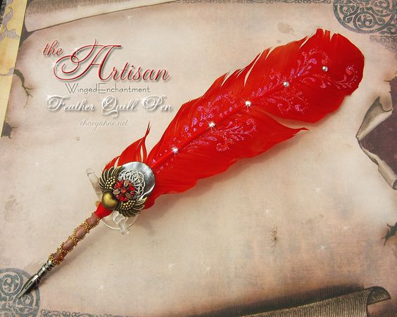 The ARTISAN Winged Enchantment Feather Quill Pen by ChaeyAhne on deviantART