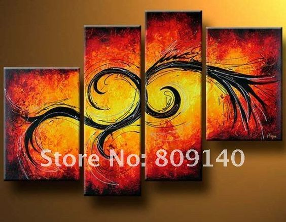 oil painting canvas Modern abstract decoration Together high quality hand painted home office hotel wall art decor free shipping-in Painting & Calligraphy from Home & Garden on Aliexpress.com