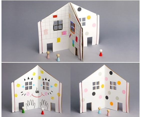 The Dollhouse Book Features Blank Pages for Kids to Design a Dream Abode