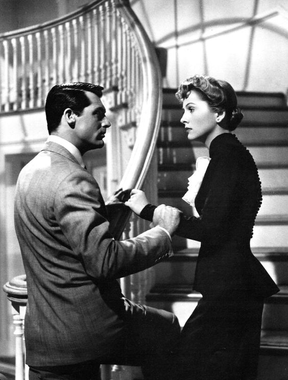 Cary Grant and Joan Fontaine in Suspicion (1941):