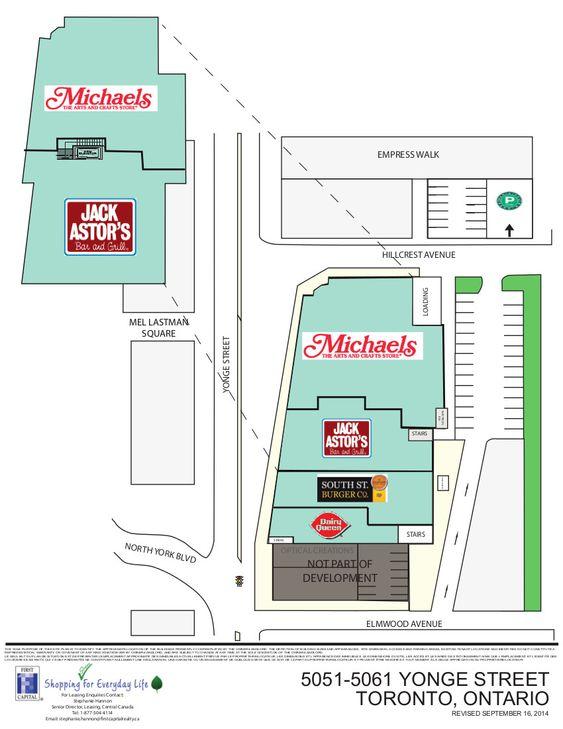 5051 5061 Yonge Street Shopping Plan Yonge Street Ontario City Ontario