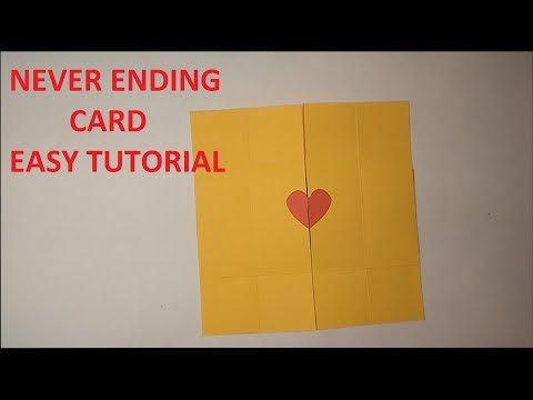 Diy Never Ending Endless Card Tutorial Valentine S Day Love