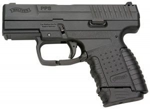 Walther PPS DAO, in 9mm or.40, capacity of 6-8 depending on desired magazine. 2014 price- $662.
