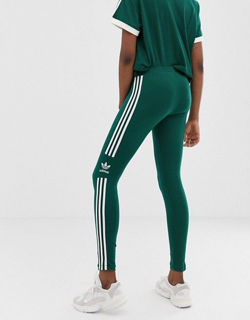 usa cheap sale competitive price exclusive range adidas Originals adicolor three stripe trefoil legging in ...