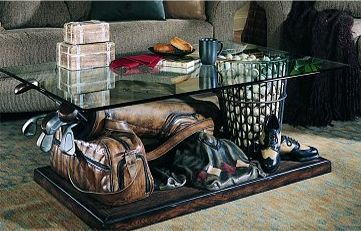 Golf themed coffee table golf is a 4 letter word for Golf coffee table