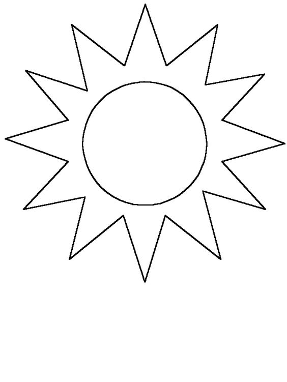 graphic about Printable Sun Template named Bode A (bodeakanbi) upon Pinterest