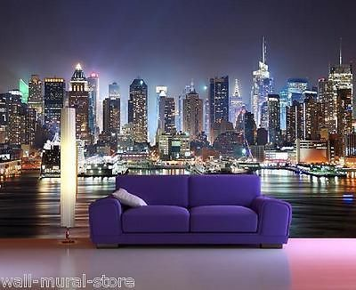 Photo wallpaper cityscapes and wall murals on pinterest for Cityscape wall mural