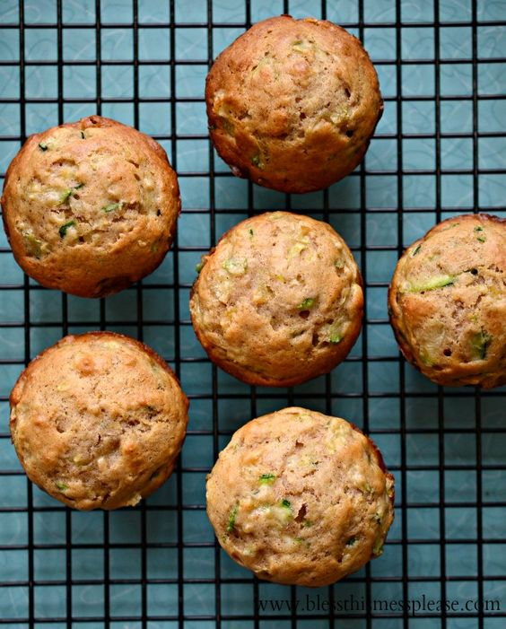 Zucchini Pineapple Muffins (made with applesauce and you can do WW flour if you like) LONG LIVE ZUCCHINI