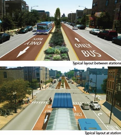 As Bus Rapid Transit (BRT) systems have many features in common with subway or light rail transit modes but come at a much lower installation cost, they have become popular with urban planners in many cities across the world. After a year-long planning study, the Chicago Transit Authority (CTA) selected Ashland Avenue to be the first BRT corridor in the Windy City.