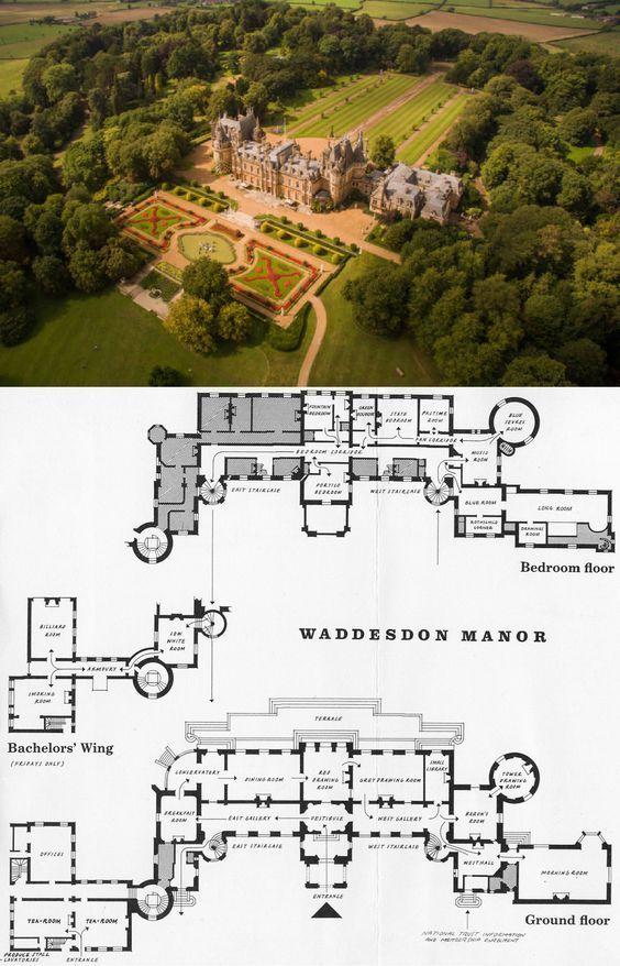 Waddesdon Manor England Castle Floor Plan Mansion Floor Plan Architectural Floor Plans