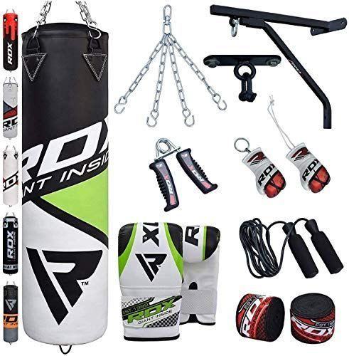 14 Piece 5ft Boxing Punch Bag heavy Filled Set Martial Art Gloves MMA Gym Kick