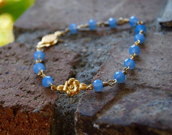Little Flower Chaplet Bracelet by TheseJoyfulAches on Etsy