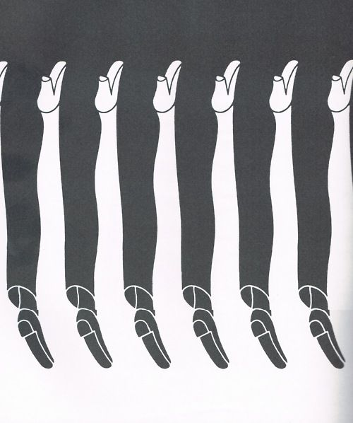 .: Graphic Design, Leggy Tessellation, Optical Illusions, Negative Space, Women Legs, Positive Negative, Shigeo Fukuda, Dance Design Graphic, Men And Women
