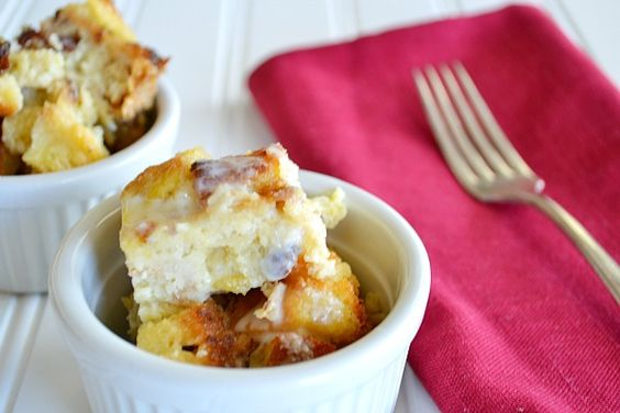 Pina Colada Bread Pudding {with Vanilla Rum Sauce}