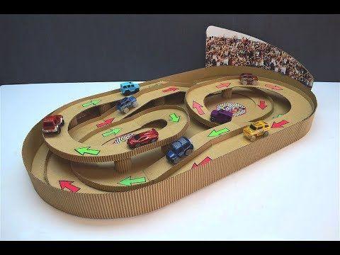 Diy Magic Track With Magic Cars Out Of Cardboard Youtube Diy Toys Car Cardboard Toy Car Wash