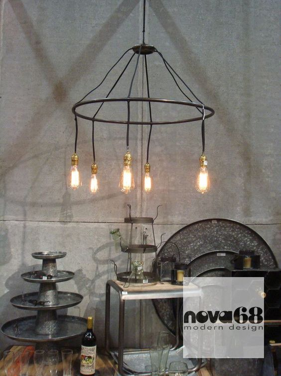 Roost Halo Chandelier  Recycled  reclaimed or repurposed material  Inspired  by the simple designsRoost Halo Chandelier  Next Day Shipping   Halo  Repurposed and  . Roost Lighting Design. Home Design Ideas