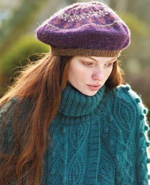 Fair Isle Beret Knitting Pattern : Fair isles, Free pattern and Models on Pinterest