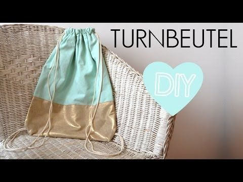 diy anleitung turnbeutel rucksack einfach selber machen n hen f r anf nger youtube diy. Black Bedroom Furniture Sets. Home Design Ideas