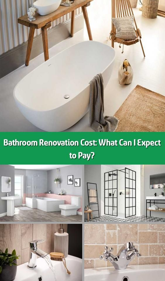 Bathroom Renovation Cost What Can I Expect To Pay Wondering What Your Bathroom Renovation Will Cost On Average A New Bathroom Costs Around 3 000 Howeve 2020