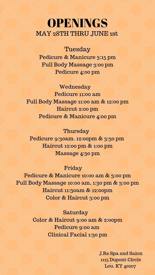 Openings Full Body Massage Body Massage Manicure And Pedicure