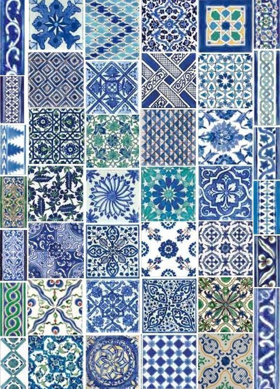 Dorémail hand painted tiles from Nabeul, Tunisia.  Check out their website.