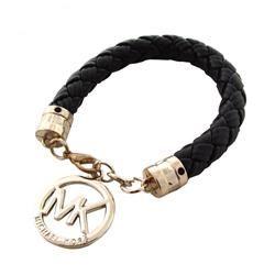 Michael Kors Braided Logo Black Bracelets