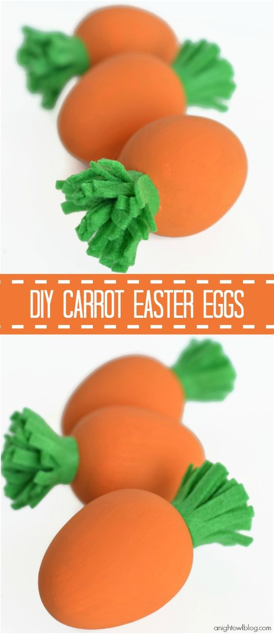 Adorable and easy DIY Carrot Easter Eggs - too cute!: