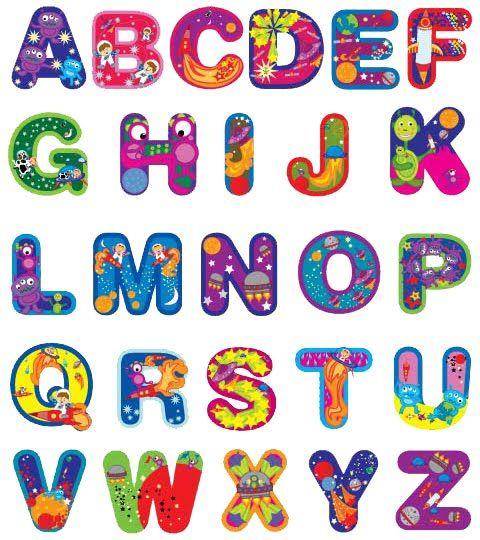 Alphabet Letter Designs Art: Free Printable Funny Alphabet Letters