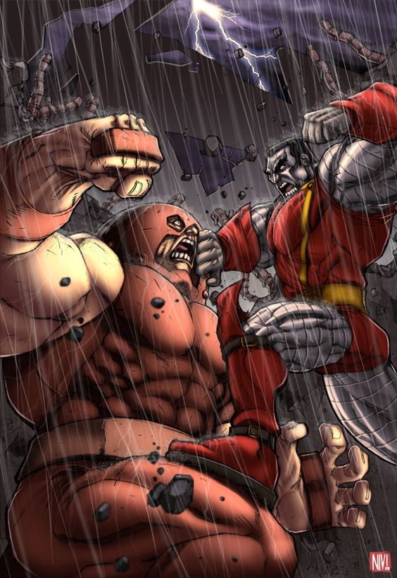 Juggernaut vs Colossus by NicolasViig on deviantART
