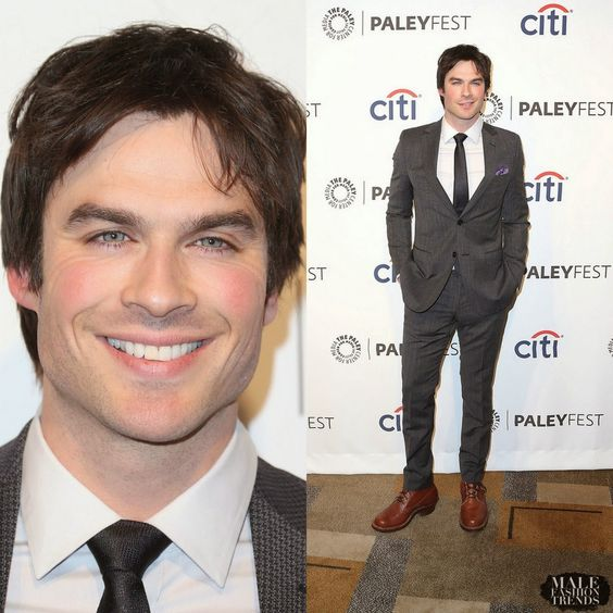 "Male Fashion Trends: Ian Somerhalder en Z Zegna – ""The Vampire Diaries"" Honored in PaleyFest 2014"