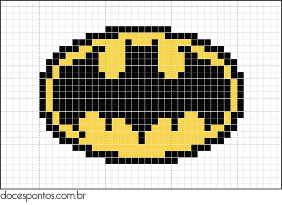 Batman Knitting Chart Pattern : korssting batman Ideer Pinterest Cross stitch free, Stitches and Batman...