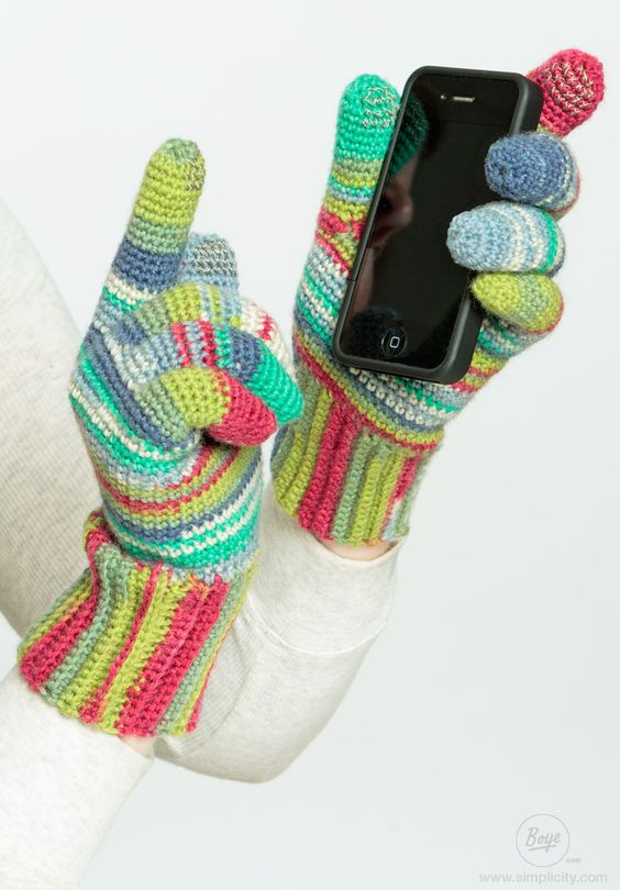 Crocheting Using Your Hands : Now you can use your touch-sensitive devices and keep your hands warm ...